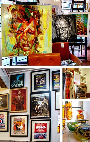 Antiques and contemporary art, on display in a relaxed and friendly environment in the centre of Uppingham, Rutland.